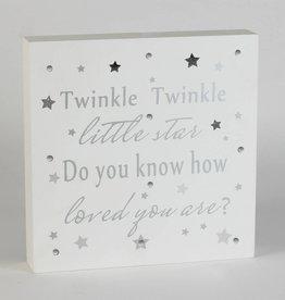 Bambino by J twinkle twinkle...verlicht wandbord