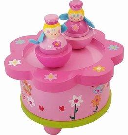 muziekdoos dansende prinses roze/groen