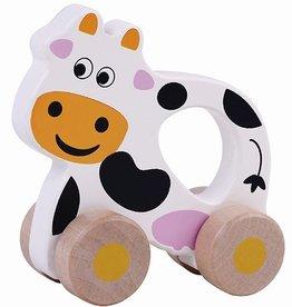 houten rollende grijp koe