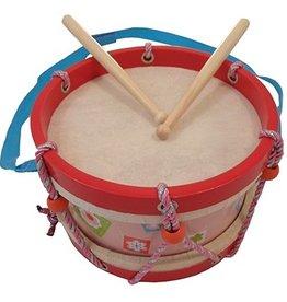 houten trommel roze/rood