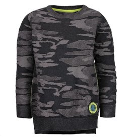 Blue Seven camouflage sweater save the earth