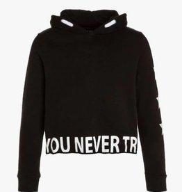 Blue Seven Teens hoody zwart if you never try