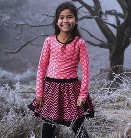 Lofff jurk dancing pinkcoral/black
