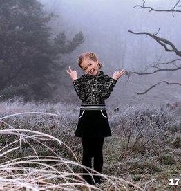 Lofff jurk black/white hartjes