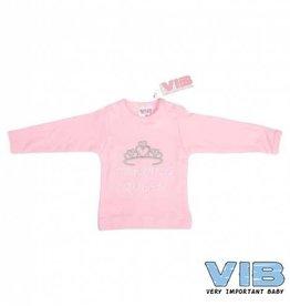 V.I.B. roze shirt dancing queen 0-3 maanden