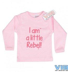 V.I.B. t-shirt Little Rebel roze 3-6 maanden