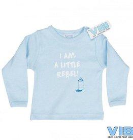 V.I.B. t-shirt Little Rebel blauw 0-3 maanden