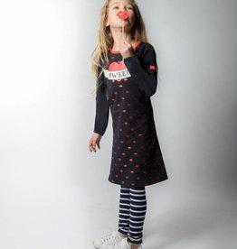 O'Chill Alice navy jurk aop foil lippen