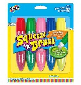 Galt 5 verfstiften, Squeeze n brush