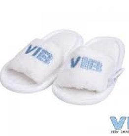 V.I.B. slippertjes VIB wit lichtblauw