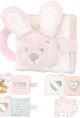 V.I.B. zacht knuffelboekje konijn roze