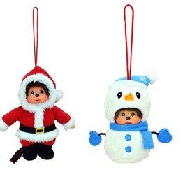 Monchhichi kersthanger sneeuwpop óf kerstmannetje