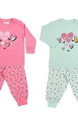 Fun2Wear Fun2Wear Pyjama New Heart Green