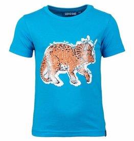 SomeOne blauw swipe shirt dino