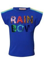 SomeOne blauw swipe shirt rainbow