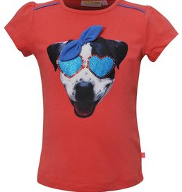 SomeOne koraal shirt hondje zonnebril
