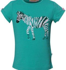 SomeOne donkermint swipe shirt zebra