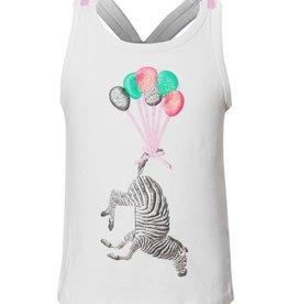 SomeOne roze hemd zebra ballonnen