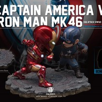 Marvel Egg Attack: Civil War - Captain America vs Iron Man Statue