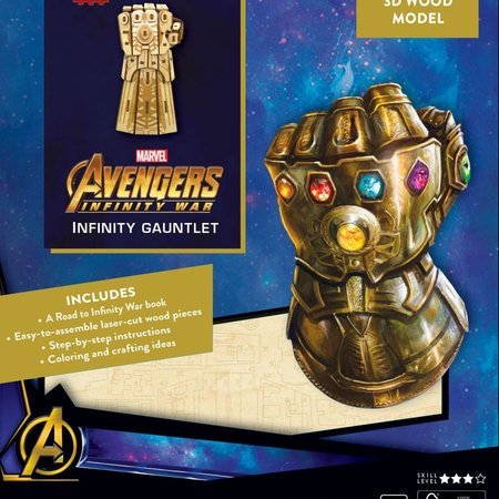 Window box Avengers Infinity War IncrediBuilds 3D Wood Model Kit Infinity Gauntlet