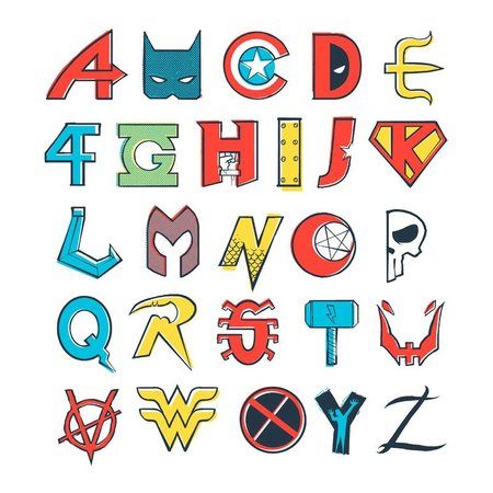 Pampling Comics Alphabet by spike00