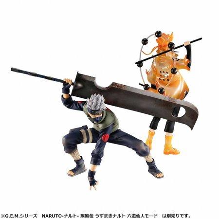 Megahouse Naruto Shippuden G.E.M. Series PVC Statue 1/8 Hatake Kakashi Ver. Ninkaitaisen 15 cm