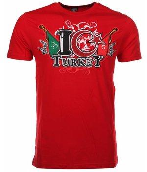 Mascherano Camisetas - I Love Turkey - Rojo