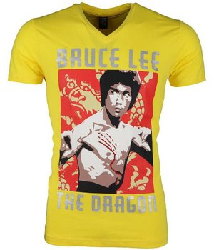 Mascherano Camisetas - Bruce Lee the Dragon - Amarillo