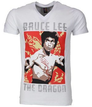 Mascherano Camisetas - Bruce Lee the Dragon - Blanco