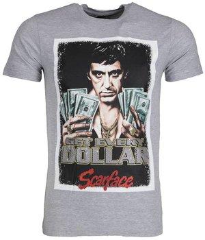 Mascherano Camisetas - Scarface Get Every Dollar - Gris