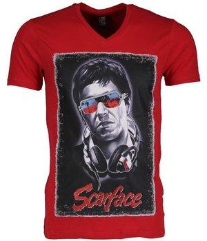 Mascherano Camisetas - Scarface - Rojo
