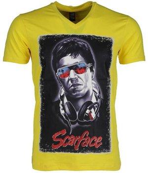 Mascherano Camisetas - Scarface - Amarillo