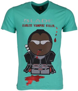 Mascherano Camisetas - Blade Fearless Vampire Killer - Verde