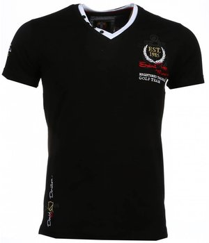 David Mello Camisetas - Club Riviera Camiseta Italiano - Negro
