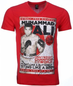 Mascherano Camisetas - Muhammad Ali Print - Rojo