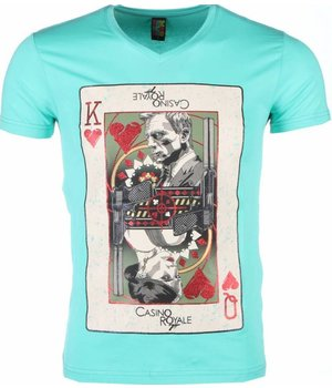 Mascherano Camisetas - James Bond Casino Royale Print - Verde