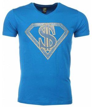 Mascherano Camisetas - Superman Dollar Print - Azul