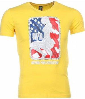 Mascherano Camisetas - NPA Print - Amarillo