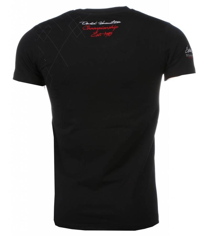 David Mello Camisetas - Squadra Azzura Bordado Camiseta Italiano hombre - Negro