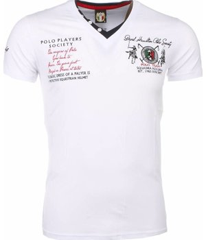 David Mello Camisetas - Club Polo Players Camiseta Italiano hombre - Blanco