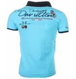 David Mello Camisetas - Progettazione cuello de chal Camiseta Italiano hombre - Turquesa