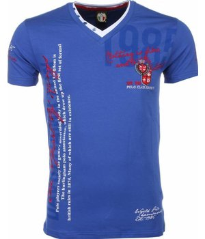David Mello Camisetas - Club Polo Bordado Camiseta Italiano hombre - Azul