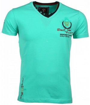 David Mello Camisetas - Club riviera Camiseta Italiano hombre - Verde