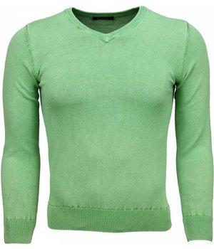 Brother-F Jersey - Exclusivo V-cuello básico Jersey hombre - Verde