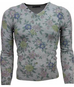 Belman Jersey - Motivo Floral Jersey hombre - Gris Oscuro