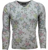 Belman Jersey - Motivo Floral Jersey hombre - Gris Claro