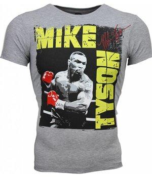 Mascherano Camisetas - Mike Tyson Glossy Print - Gris