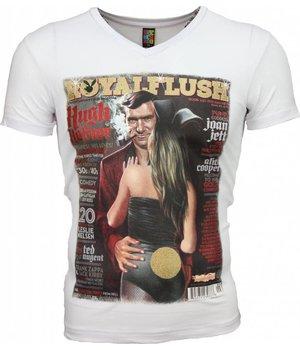 Mascherano Camisetas - Royal Flush Glossy Print - Blanco