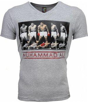 Mascherano Camisetas - Muhammad Ali Panorama Print - Gris
