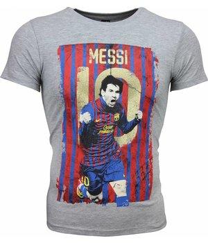 Mascherano Camisetas - Messi 10 Print - Gris